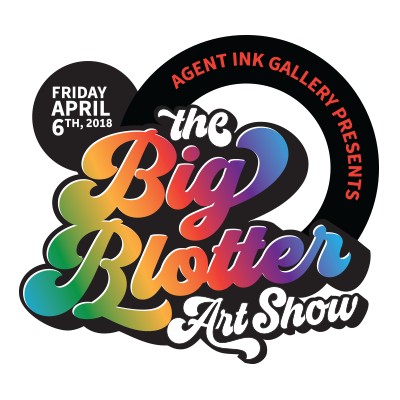 The Big Blotter Art Show Logo Design By The TradeMark Studio