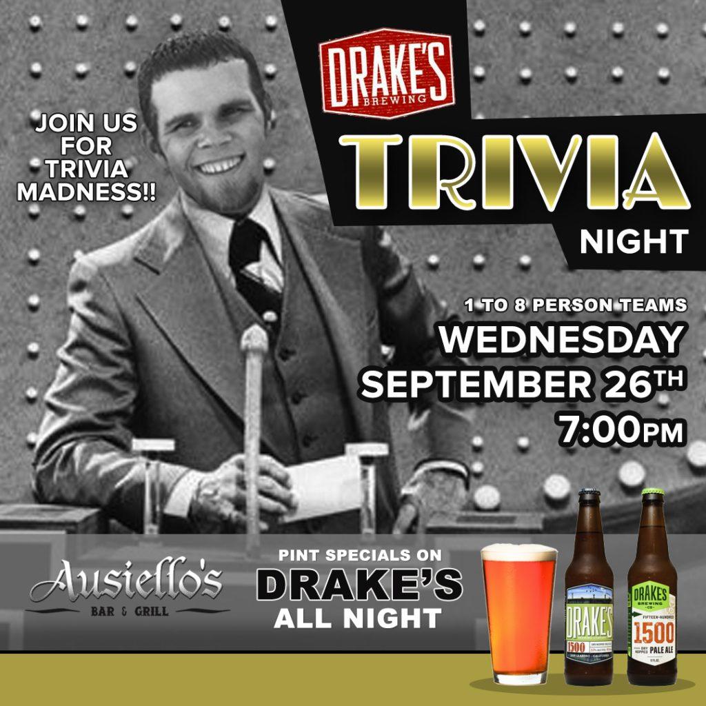 Drakes Trivia Night