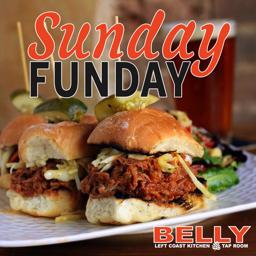 Sunday Funday Belly Left Coast Kitchen Social Media Marketing Santa Rosa